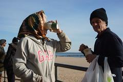 Drink (dtanist) Tags: nyc newyork new york city newyorkcity sonya7 contax zeiss carlzeiss carl planar 45mm brooklyn coney island beach sand sea locals drink drinking cup