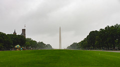 National Mall Lawn Restoration (ep_jhu) Tags: grass 4thofjuly washington washingtonmonument cloudy overcast canon dc wet lawn drops construction nationalmall green raining rain 7d