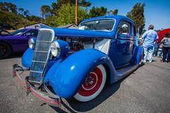 IMG_2054 (draydogg) Tags: 10thannual 1935 1935ford5windowcoupe artserna blue cambria carshow classic classiccar coupe custom entry179 ford hotrod pinedorado pinedoradocarshow