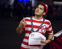 Introspective Waldo (San Diego Shooter) Tags: halloween halloweencostumes cosplay halloween2016 2016halloweencostumes sandiego portrait bokeh streetphotography downtownsandiego sandiegohalloween sexyhalloweencostumes sexyhalloweencostumes2016