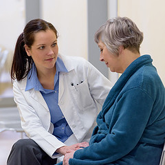 Doctor comforting senior patient (Xarelto Lawsuit medical lawyers) Tags: care clinic comforting doctor elderly female health healthcare hospital intern medical nurse patient senior sickness sitting smiling talking woman cz