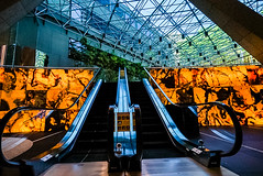 DSC01965 (Damir Govorcin Photography) Tags: grosvenor place sydney indoors architecture escalators colours light windows zeiss 1635mm sony a7ii