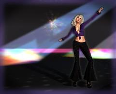 On The Disco Round With Sn@tch (lauragenia.viper) Tags: catwa genre izzies laboheme larahurley lumipro maitreya secondlifefashion sntch we3roleplay disco farrah purple blond blonde avatar virtualgirl eternaldream