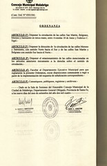 501-2004-2 (digitalizacionmalabrigo) Tags: dispone circulacion unica calles san martin sarmiento moreno belgrano
