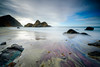 Purple Sand, Pfieffer Beach (Graeme Tozer) Tags: california usa sand ocean longexposure bigsur rocks sea keyholerock pfiefferbeach coast pacificocean waves