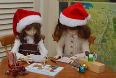 4th December (Little little mouse) Tags: dollstown ganga susie dt7 bjd dollfie megan christmasletter bygillknit