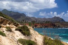 Shipwreck beach cliffs (Angela Freeman) Tags: poipu kauai hawaii sea seascape landscape cliffs mountains ocean pentaxk5 sigma18300mm
