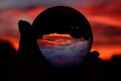 Sunset world (fragglerocks) Tags: crystalball fraggle fujixt1 nov16 sunset