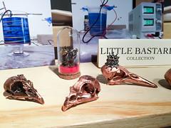 Electroform bird skulls, Nome May, Blessed Bead (marketkim) Tags: holidaymarket giftguide soeug eugene oregon saturdaymarket festival artfair eugenesaturdaymarket artfestival