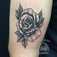 A rose for my brother @goldenchiropractic . .  #eyeofjadetattoo #eyeofjade #jeremygolden #jeremy_golden #jeremygoldentattoo #blackwork #blackworkerssubmission #darkartists #blacktattoomag #blxckink #blacktattooart #onlyblackart #btattooing  #onlyblackart