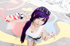 Toujou Nozomi (bdrc) Tags: asdgraphy toujou nozomi doujin version lovelive idol cosplay girl portrait outdoor street back alley shah alam selangor shelly tokina 1116 ultrawide wall art bleach bypass natural light sony a6000