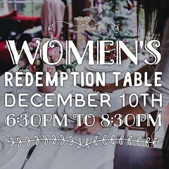 Ladies, we would love for you to join us for a time of fellowship. We will gather in groups of ten women and share a meal together. We will seek God through discussing questions about this world and our heart for others. These gatherings will take place o (rcokc) Tags: ladies we would love for you join us time fellowship will gather groups ten women share meal together seek god through discussing questions about this world our heart others these gatherings take place evening saturday december 10th from 630 pm  830 sign up blog redemptionokccomblog