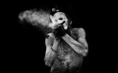 Smoking Baba. (Padmanabhan Rangarajan) Tags: kumbh kumbhmela india sadhu smoke smoking naga nasik triyambakeshwar