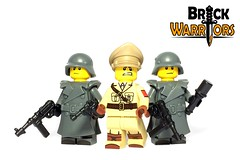 Dec 2016 - German General (BrickWarriors - Ryan) Tags: brickwarriors custom lego minifigure weapons helmets armor smg german general officer torso printing world war ww2 military guns pistol handgun