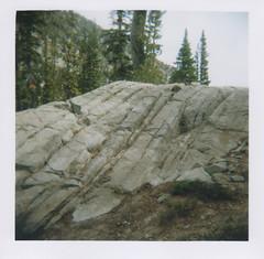 Granite 1, Chimney Lake, Eagle Cap Wilderness 2016 (Sara J. Lynch) Tags: sara j lynch eagle cap wilderness wallowas eastern oregon chimney lake granite rocks holga 120n film francis bowman trail