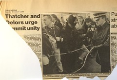1 Dec 1989 - ACT UP London takes Westmister Bridge (Mister Higgs) Tags: newspaper actup london 1989 worldaidsday westminsterbridge
