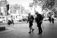 Walk on (midgley.derek) Tags: dsc0841 elderly day out walk conversation street candid streetphotography