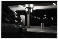 Nighttrain - Nachtzug (macplatti) Tags: nightshot night monochrome nacht sw bw blackandwhite blakandwhite schwarzweiss street streetphotography train zug bahnhof bregenz vorarlberg austria aut