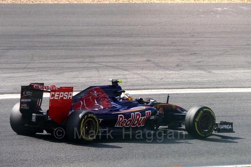 Carlos Sainz Jr in Free Practice 2 at the 2015 Belgian Grand Prix