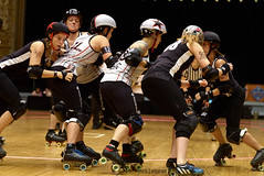 Brandywine_vs_StChux_L3501158 1 (nocklebeast) Tags: usa cleveland rollerderby rollergirls oh skates brandywine wftda stchuxderbychix brandywinerollergirls stchux d2tournament