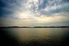 Follow Your Feet Into the Water (jeeeennnnnn) Tags: lake toronto beach nature water clouds nikon horizon torontoisland serene minimalism lakeontario wardsisland