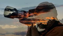 photographer's sunset (marianna_armata) Tags: composite photoshop happy exposure doubleexposure sunday multipleexposure multiple psd photocollage sliders incamera hss mariannaarmata p1840452