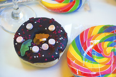 Donut and Lollipop (iSam's) Tags: candy sweet chocolate ganache hard super donut doughnut lollipop 2015 isam
