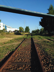 Railroad (adriank1410) Tags: light summer sky holidays memories poland polska wakacje lato wspomnienia iphone5 iphoneography lublinvoivodeship