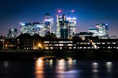 city lights (Steve J Cottis) Tags: longexposure london river lights riverside nighttime canarywharf riverthames tokina1116mm28 nikond5300