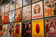 Vintage movies! Istanbul Modern (Abdallah A. Mansour) Tags: art museum modern canon vintage turkey movie poster geotagged eos modernart sigma places indoor istanbul movies tr 550d istanbulmodern