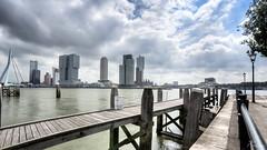 Skyline Rotterdam (PortSite) Tags: haven holland netherlands skyline architecture harbor arquitectura rotterdam nikon nederland wolken nautical paysbas hdr buiten architectuur 2015 bajos  nld  portsite   hdr5  d3s