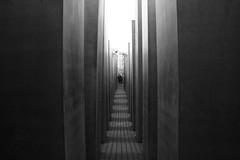 Holocaust-Mahnmal (Josmarette) Tags: blackandwhite berlin blackwhite bn holocaustmahnmal canoneos400ddigital