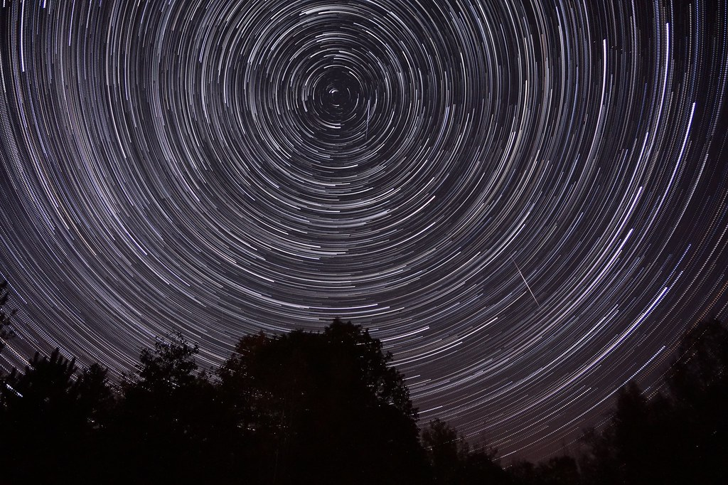 Orionid Star Trail Composite