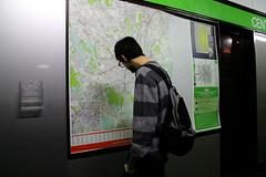 Fabio. (Loredana Mad Desiato) Tags: trip autumn boy italy cute october friend waiting italia metro map duomo attention