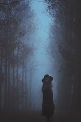 (lunaperri) Tags: autumn light shadow wild portrait plants plant black paris tree art fall me nature girl hat fog forest self dark glow shadows dress photoshoot grunge ghost hipster surreal pale fairy phantom tale itay tumblr