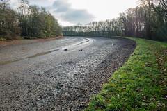 Entre Crévic et Maixe, le canal est à sec
