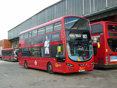 GAL WSD1 - SN64CTV - OSF - 180 - BX BEXLEYHEATH BUS GARAGE - MON 23RD NOV 2015 (Bexleybus) Tags: bus london ahead garage go 180 route tfl bexleyheath bx goahead wrightbus streetdeck wsd1 sn64ctv