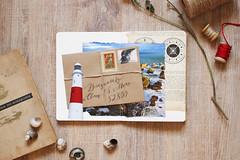 12. Collage_flash_mob: Lighthouse (Saptuna) Tags: sea lighthouse collage letter beacon  natalismolova nataliasmolova collageflashmob
