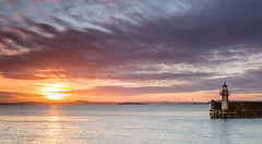 Burntisland harbour sunset (C.Andrews) Tags: sunset lighthouse harbour fife forth burntisland