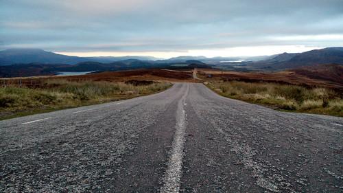 Sur les majestueuses routes écossaises...