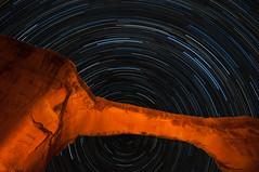 Owachomo_StarTrails_10_2015 (Ken'sKam) Tags: lightpainting nature stars utah naturalbridge geology startrails naturalbridgesnationalmonument lightpainted westernusa owachomobridge owachomo