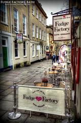 The Fudge Factory (AreKev) Tags: uk england bath factory sony cybershot somerset fudge churchstreet hdr sonycybershot sweetshop fudgefactory photomatixpro rx100 abbeygreen dscrx100 sonydscrx100