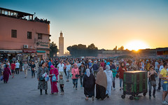 sun down (jaumescar) Tags: street travel sunset people color muslim crowd marrakech crowded lightroom