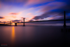 Shine (Marvin Manabat Photography) Tags: longexposure bluehour sunrise embarcadero sanfrancisco bayarea baybridge marvinmanabatphotography canon5dmarkiii ef2470mmf28liiusm silhouette outdoors suspension span morning serene