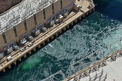 Hoover Dam Water Discharge (dr_marvel) Tags: hoover dam hooverdam water power electricity hydroelectric concrete cement