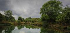 Wharram Percy pond (jumpandwave) Tags: wharram percy pond water sky clouds reflection trees canon jumpandwave