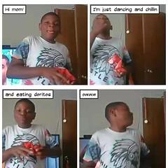 Joe (stanbstanb) Tags: lomics comics kids chillin dancing doritos eating koolaid