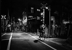 Night Rider. (Presence Inc) Tags: night rx1rm2 street sony abstract spaces mirrorless architectural light transport designtheory 35mm urban tokyo urbanscape geometric dark photography rx1r design graphic bw texture japan detail