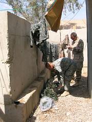 Permethrin treatment of uniforms (USARCENT) Tags: permethrin headquartersandheadquarterscompany 2ndbrigadecombatteam 4thinfantrydivision kalsu iraq