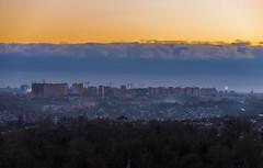 City Levels (Ash and Debris) Tags: lines houses sunset levels city cityscape horizont dusk trees urban ukraine kiev sky kyiv colors buildings clouds